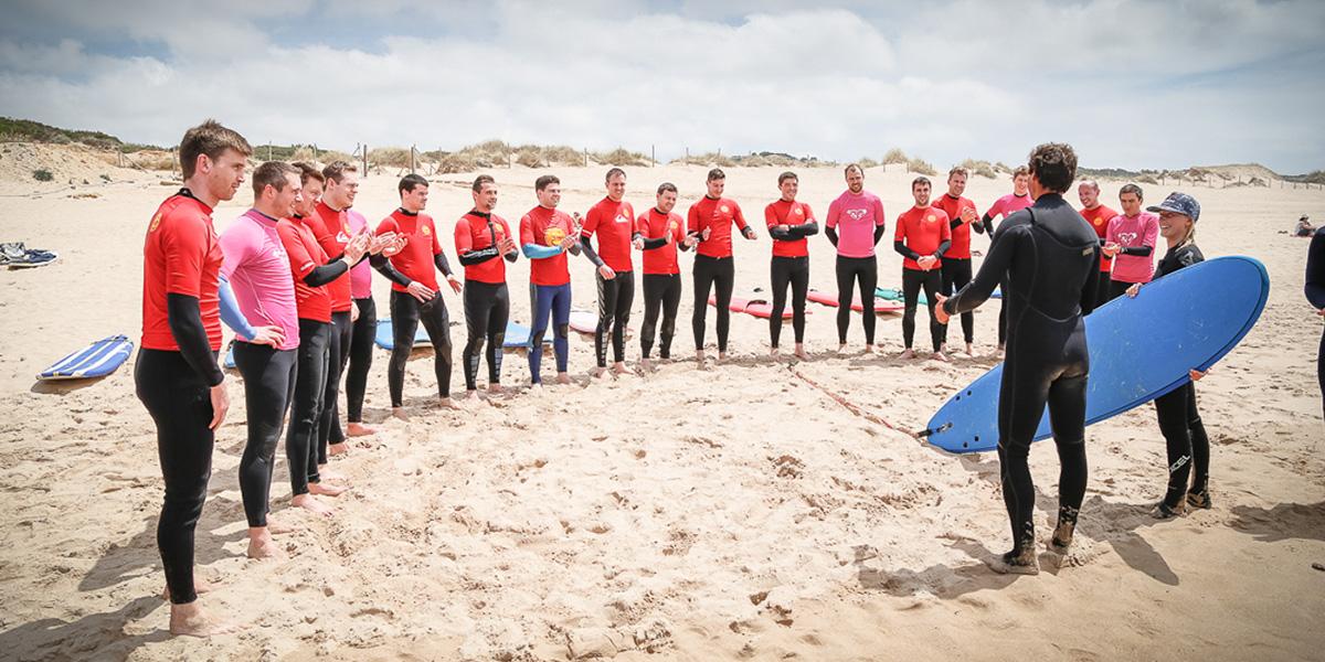 team building, activities, surf