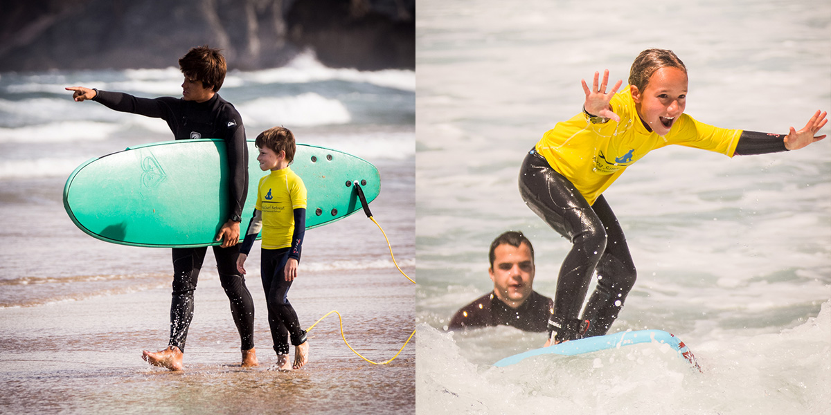 kids surf, learn surf