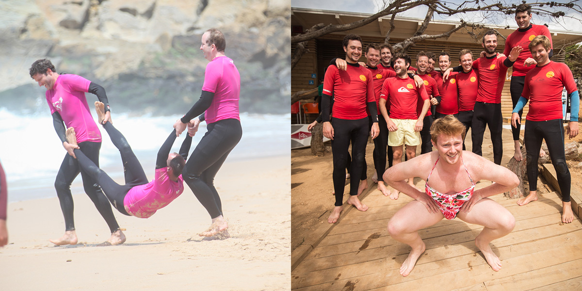 stag, hen, surf party