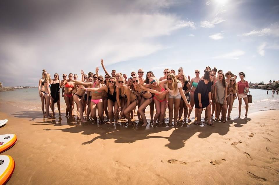 team building, surf, team surf