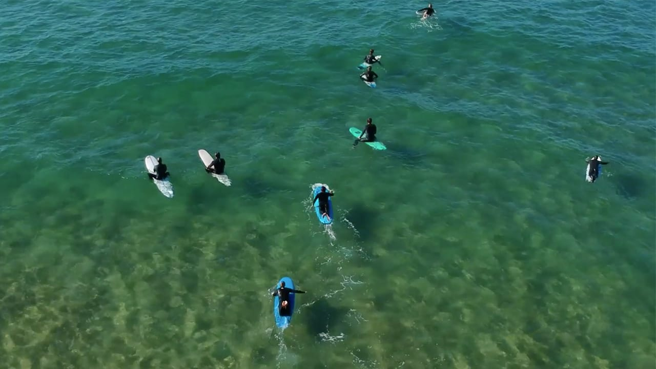 Ocean therapy, fun in the water surfing
