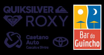 logo sponsors: roxy, quicksilver, caetano, bardoguincho
