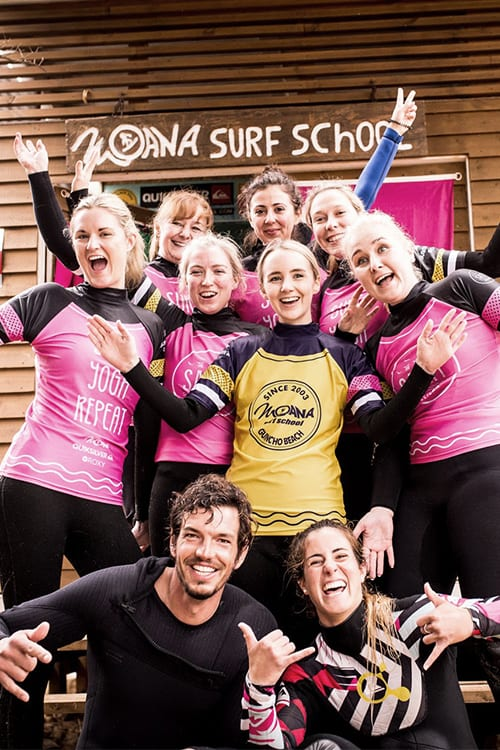 stag & hen party at Moana surf school